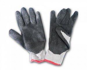 Перчатки - №6 серые с черным обливом (вес 60 г) (10 пар/уп) (600 тюк)