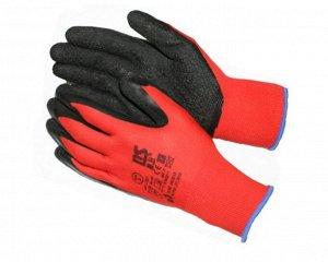 Перчатки - №8 красные с черным обливом (10 пар/уп) (720 тюк)