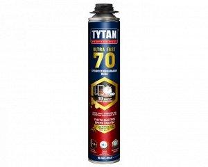 Проф. пеногерметик Tytan TYTAN ULTRA FAST 70 пена профессиональная, 870 мл (быстрая полимеризация)