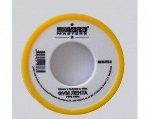 ФУМ лента ABRO 19мм х 0,1м х 15 м PTFE-19-R (10/уп)