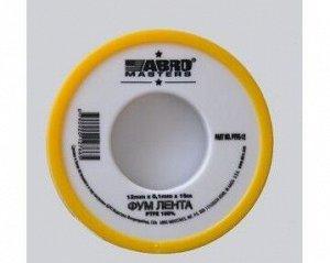 ФУМ лента ABRO 12мм х 0,1м х 15 м PTFE12-R (10 шт/уп)