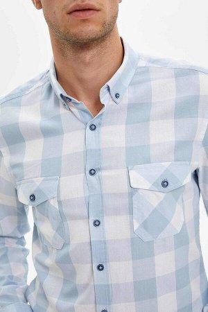 рубашка Размеры модели: рост: 1,85 грудь: 96 талия: 80 бедра: 95 Надет размер: M  Хлопок 100%