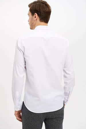рубашка Размеры модели: рост: 1,89 грудь: 98 талия: 80 бедра: 95 Надет размер: M  Хлопок 55%, Полиэстер 45%