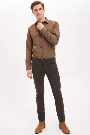 рубашка Размеры модели: рост: 1,89 грудь: 98 талия: 80 бедра: 95 Надет размер: M  Вискоз 35%, Полиэстер 65%
