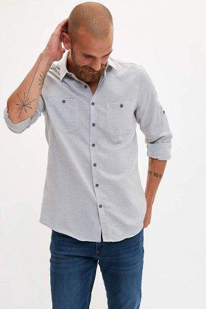 рубашка Размеры модели: рост: 1,83 грудь: 98 талия: 82 бедра: 96 Надет размер: M  Хлопок 30%, Полиэстер 70%