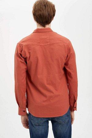 рубашка Размеры модели: рост: 1,87 грудь: 77 талия: 95 бедра: 93 Надет размер: M Elastan 3%, Хлопок 97%