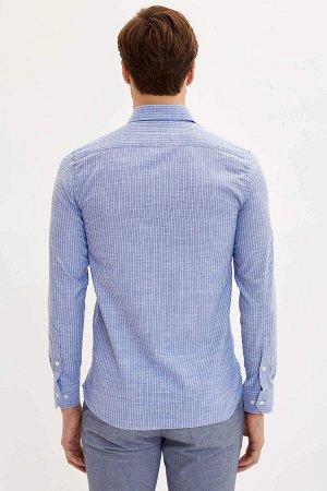 рубашка Размеры модели: рост: 1,9 грудь: 100 талия: 84 бедра: 101 Надет размер: M  Хлопок 100%