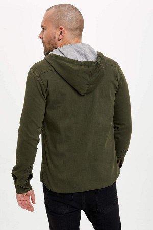 рубашка Размеры модели: рост: 1,88 грудь: 98 талия: 81 бедра: 94 Надет размер: M  Полиэстер 25%,Elastan 5%, Хлопок 70%