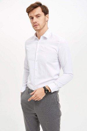 рубашка Размеры модели: рост: 1,89 грудь: 99 талия: 75 бедра: 99 Надет размер: XS  Хлопок 55%, Полиэстер 45%