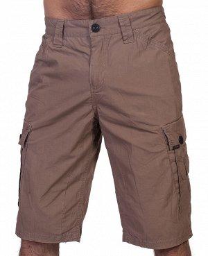 Мужские шорты UZZI – хлопковый хит с накладными и врезными карманами №343