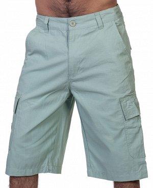 Хлопковые мужские шорты Akademiks – посадка по бедрам, закрытые коленные чашечки №354