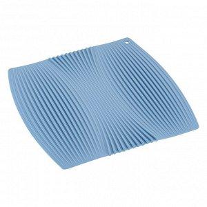 """""""Casa"""" Коврик для сушки посуды 23х22 цв.голубой M04-058-B"""
