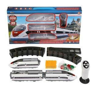 1801F429-R Железная дорога на инфракрасном управлении, длина 308см в кор., 48*28*5см Играем вместе в кор.2*12шт