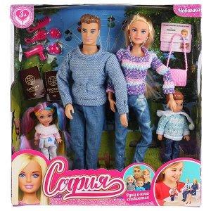 66504-SA-BB (24) Кукла 29 см София руки и ноги сгиб, Алекс, сын, дочь, акс, кор София и Алекс в кор.24шт