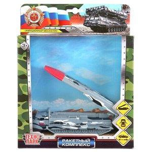 SB-17-62-A(GY)-WB(HIGH) Модель металл ракетный комплекс 15см, откр.двери, инерц, подвиж.элементы в кор Технопарк в кор2*24шт