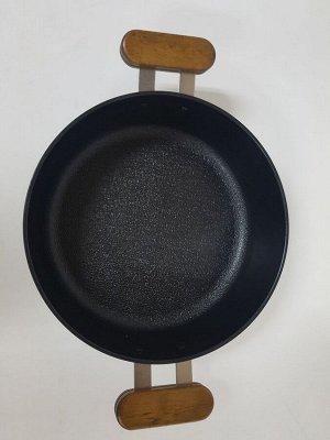 Кастрюля Oslo IH 24 см низкая для индукционных плит с крышкой