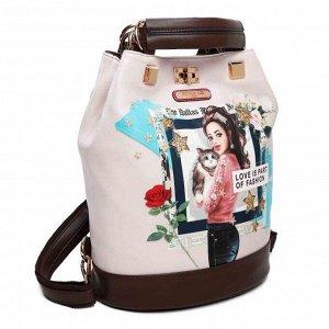 LC16003 FASHION LOVE CAT PRINT рюкзак