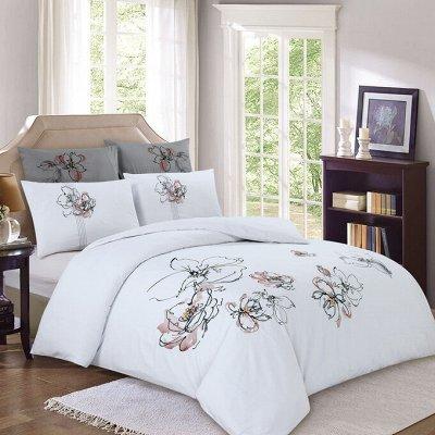 ЭкоЛан - постельное белье, подушки, одеяла и др. НОВИНКИ!! — КПБ сатин с вышивкой — Двуспальные и евро комплекты