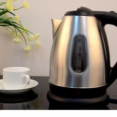 ✔ Дельта- Дискаунтер Товары для дома — Чайники с корпусом из нержавеющей стали электрические — Электрические чайники и термопоты