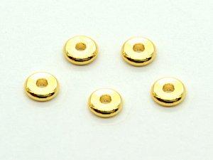 Спейсер 4,5*1мм золотистый, отверстие 1мм (упаковка 10шт.)