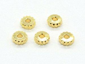 Спейсер 5,5*2мм золотистый, отверстие 2мм, (упаковка 10шт.)