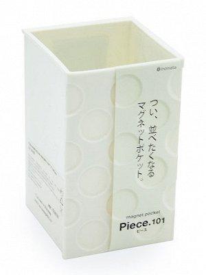 Органайзер Органайзер на магните 64*72*105мм БЕЛЫЙ. Стильный органайзер ТМ Inomata. Органайзер удобен и прост в применении, он примагничивается к холодильнику, либо любой другой металлической поверхно