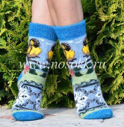 Уютные носочки и варежки из 100% шерсти — Женские носки — Носки