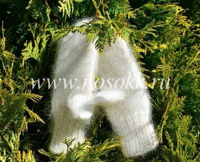 Уютные носочки и варежки из 100% шерсти — Варежки женские — Вязаные варежки
