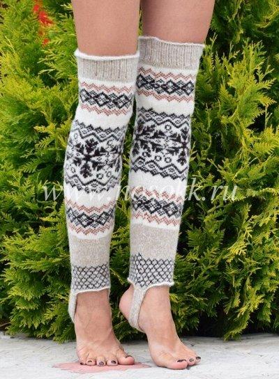 Уютные носочки и варежки из 100% шерсти — Гетры — Гетры, гольфы