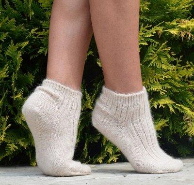 Уютные носочки и варежки из 100% шерсти — Следки женские — Носки