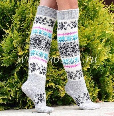 Уютные носочки и варежки из 100% шерсти — Гольфы — Гетры, гольфы