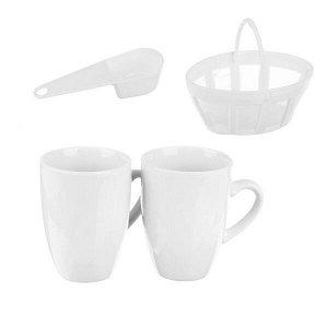 Кофеварка капельная 500Вт, две чашки 0,3л