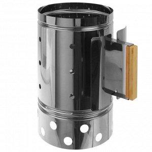 Кружка-стартер для розжига угля объем 7 л., нержавеющая сталь