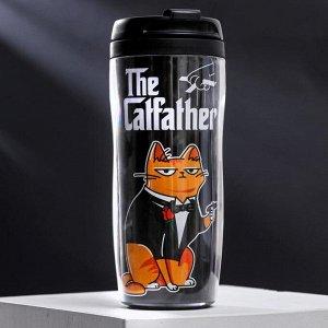 "Термостакан со вставкой ""The Catfather"", 350 мл, сохраняет тепло 2 ч"