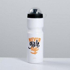 "Бутылка для воды ""Never give up"", 750 мл"