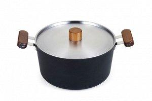Кастрюля Oslo IH 24 см для индукционных плит с крышкой.