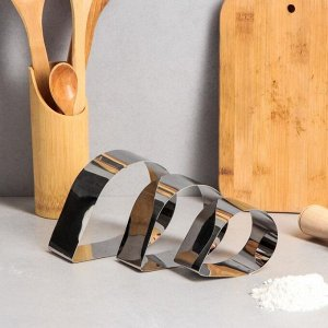"Набор форм для выпечки и выкладки ""Капля"" 9х13,5х5 см, 3 шт"