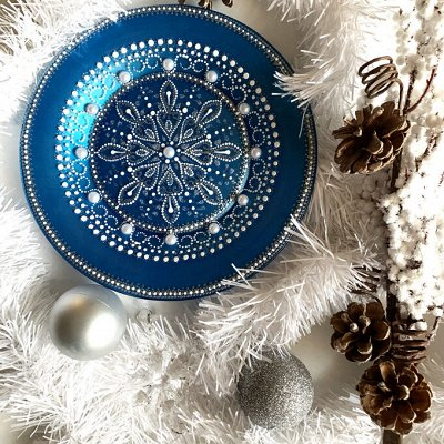 Роспись акрилом - ярко, нарядно, подарочно — NESTbase | Наборы для творчества — тарелки — Мозаики и фреска