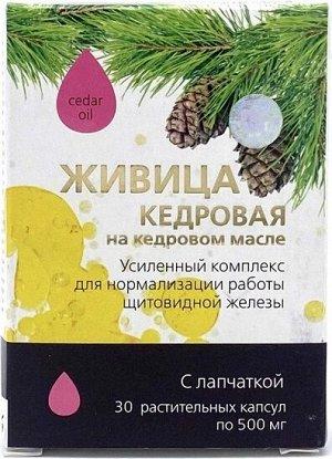 Живица кедровая на кедровом масле с лапчаткой, 30 капсул