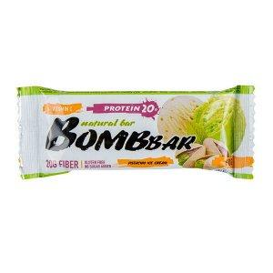 Батончик протеиновый фисташковый пломбир Protein pistachio ice cream Bombbar 60 гр.