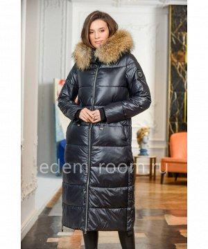 Пуховик - пальто с капюшоном и мехомАртикул: 840-2-115-CH-EN