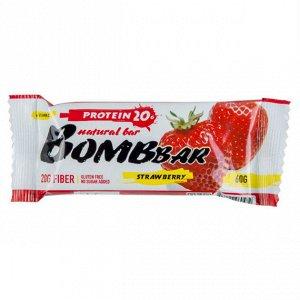 Батончик протеиновый клубника Protein strawberry Bombbar 60 гр.