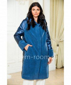 Шерстяное пальто  с капюшономАртикул: A-1929-2-100-SN