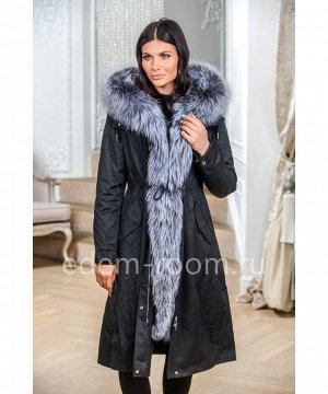 Парка  - пальто с мехом лисыАртикул: EL-881-110-CH-CH