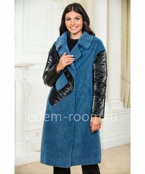 Синее шерстяное пальтоАртикул: A-19118-105-SN