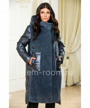 Пуховое пальто из шерстиАртикул: A-1631-2-105-SN