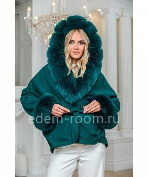 Кроткое пальто с меховым капюшономАртикул: AL-167-2-70-IZ-P