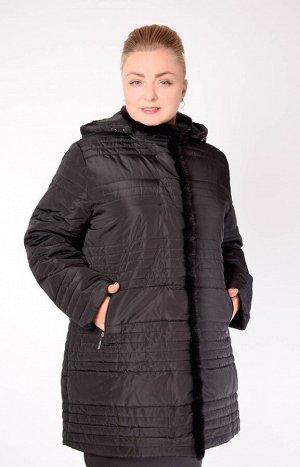 Черный Описание Стеганая женская куртка с отделкой из натурального меха норки. Капюшон при желании можно отстегнуть. Застежка на молнию. Два боковых кармана. Легкая и теплая. Выдерживает температуру