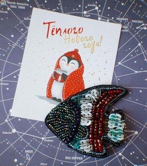 Нашивка 06 Нашивка Тропическая рыбка как на фото. Размер: 7,5см * 6,5см. Обратная сторона гладкая (фетр): для приклеивания, пришивания. Подойдет как заготовка для броши или заколки, или нашивка на оде