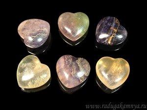 Сердце из флюорита 30*28*14мм